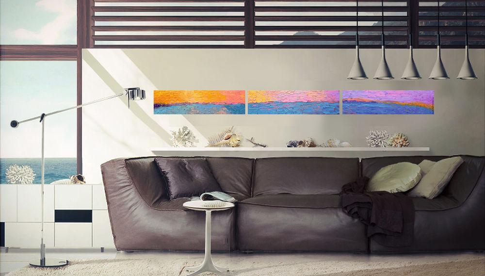 морской стиль, современные художники, краснодар, картина в интерьере, закат