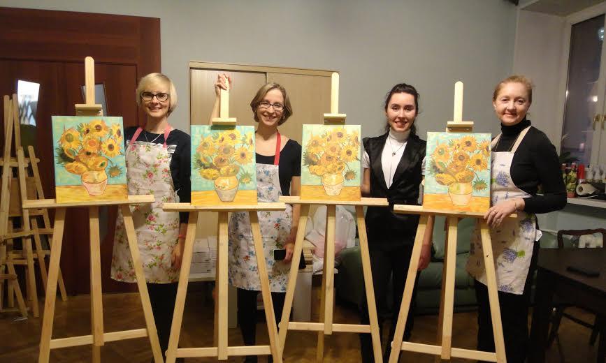 мастер-класс, живопись, живопись для начинающих, импрессионизм, подсолнухи