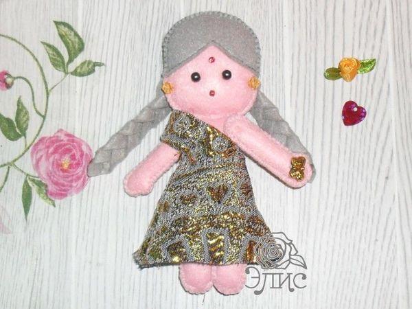 Маленькие куколки из фетра. Радха | Ярмарка Мастеров - ручная работа, handmade