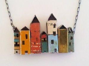 Домики в украшениях: сказка миниатюры. Ярмарка Мастеров - ручная работа, handmade.