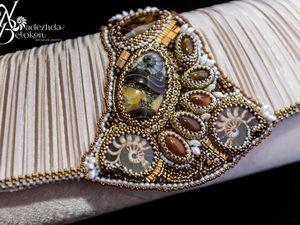 Вечерняя сумочка, расшитая натуральными камнями и бисером. Ярмарка Мастеров - ручная работа, handmade.