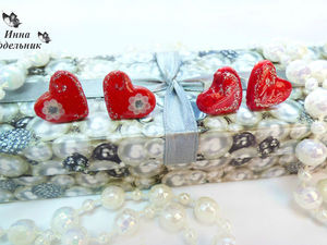 Создаем симпатичные сережки-валентинки из полимерной глины: видео мастер-класс. Ярмарка Мастеров - ручная работа, handmade.