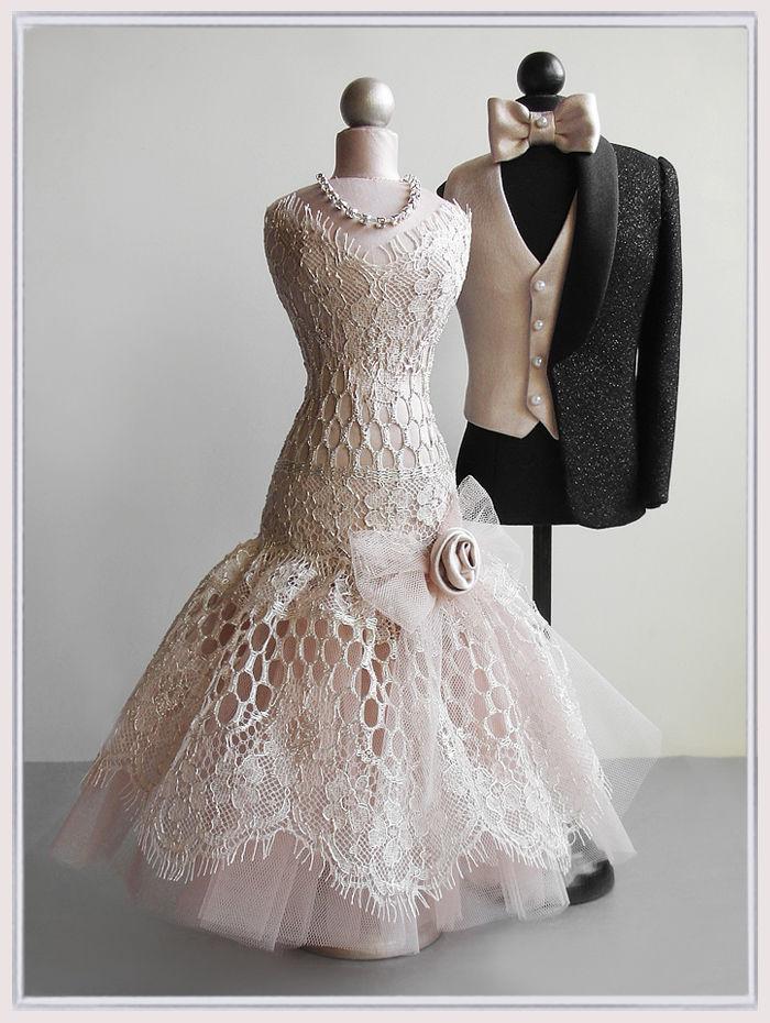 статуэтка, свадебный подарок, шёлк, миниатюра