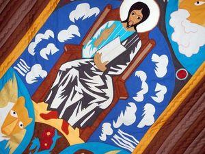 Квилт по мотивам картины Н.С.Гончаровой ХРИСТОС. | Ярмарка Мастеров - ручная работа, handmade