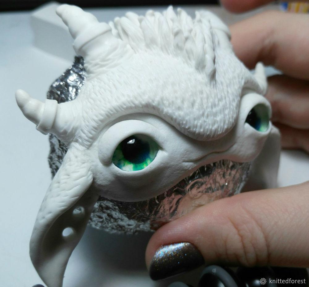 Процесс создания авторской игрушки из полимерной глины. Часть 1. Лепка мордочки, фото № 38