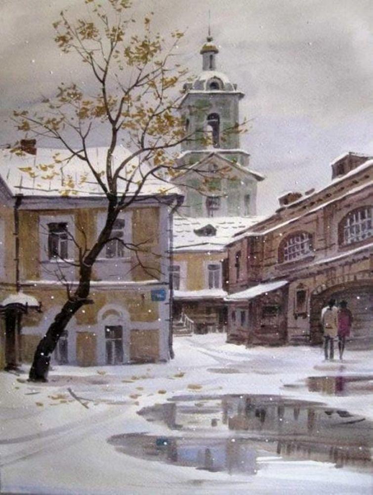 Акварельные пейзажи художника Ильи Горгоца, фото № 12
