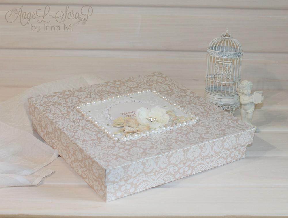 коробочка, подарок на крестины