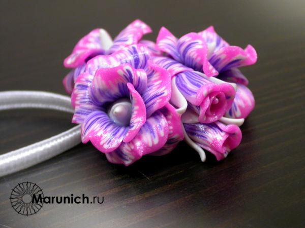 украшения из полимерной глины, цветы из полимерной глины, украшения своими руками, цветы из пластики, авторские украшения