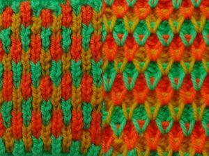 Видеоурок: учимся вязать трёхцветный узор спицами. Ярмарка Мастеров - ручная работа, handmade.