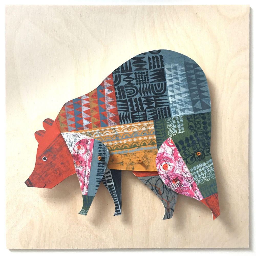 Cheerful Animals of Paper and Fabric by the Designer Clare Youngs, фото № 12