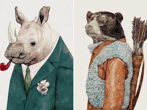 Модные животные в иллюстрациях различных художников. Ярмарка Мастеров - ручная работа, handmade.
