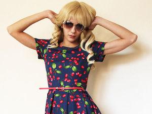 Платье в вишнями за 2250 рублей (50% скидка). Ярмарка Мастеров - ручная работа, handmade.