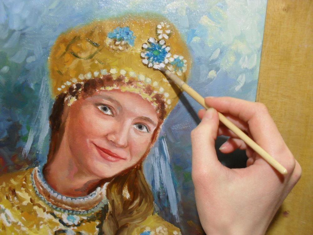 портрет, портрет маслом, русская краса