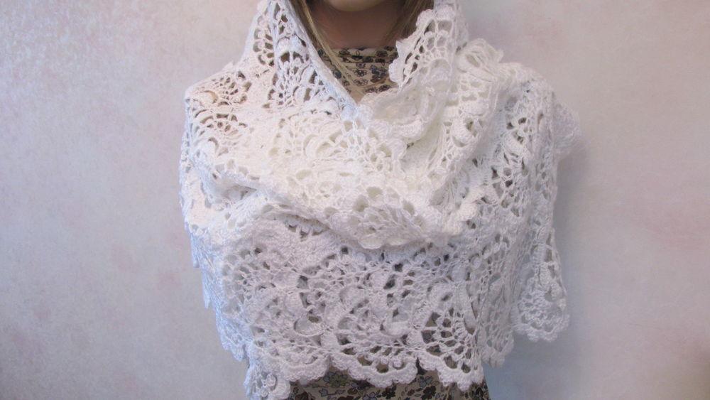 шарф-снуд, палантин вязаный, палантин купить, мохеровый, подарок женщине
