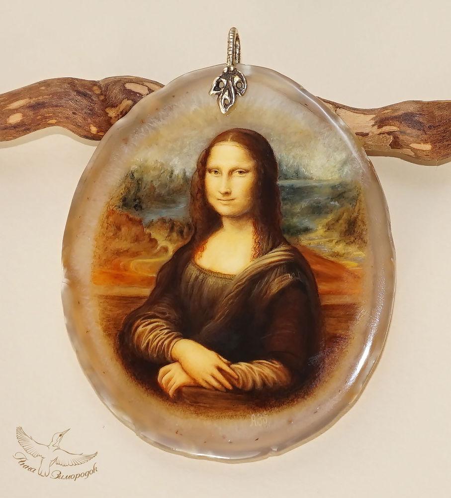 мона лиза, лаковая миниатюра