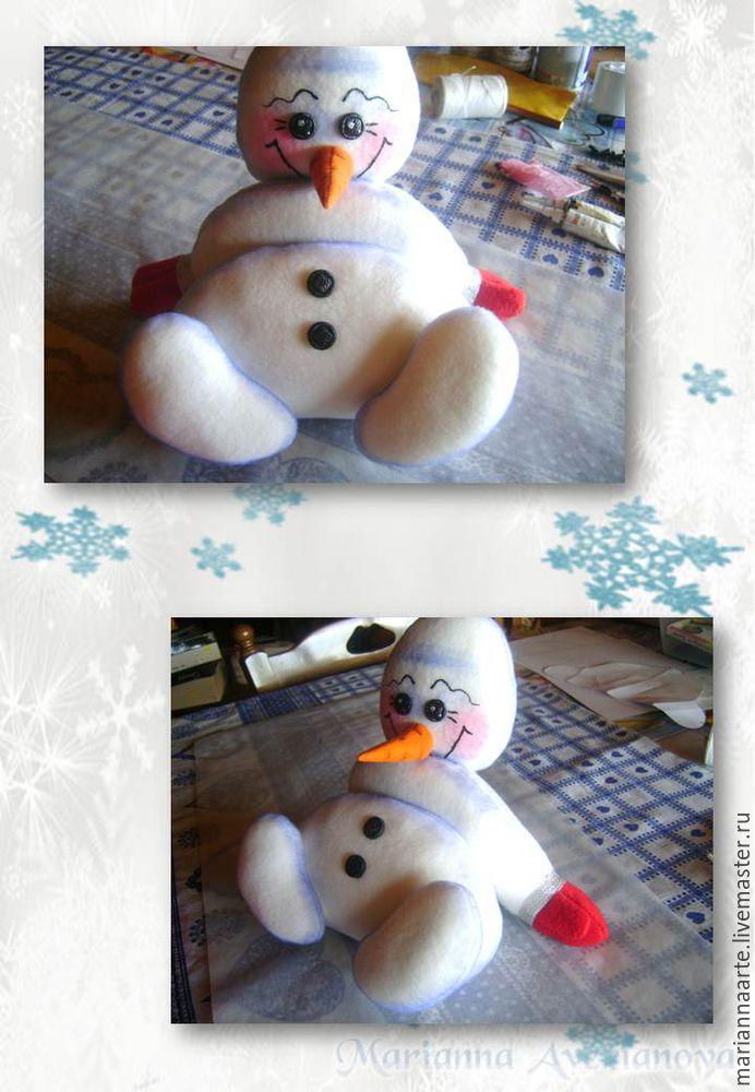Мастер-класс по созданию забавной новогодней игрушки «Снеговичок-тюфячок», фото № 27