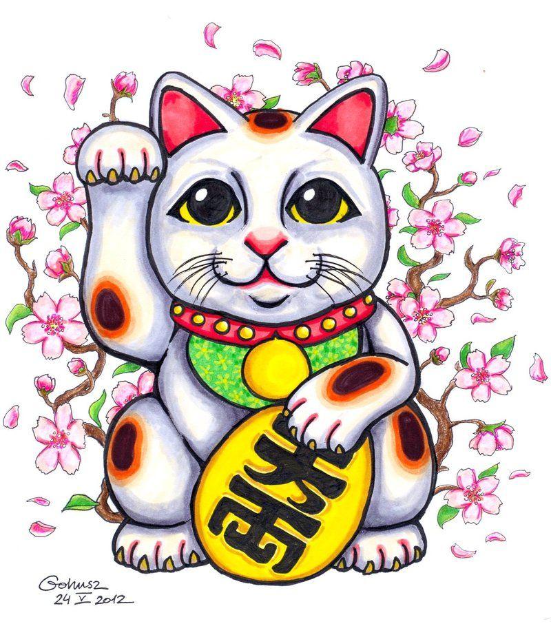 стакан картинки манеки неко кота герцогини, детали личной