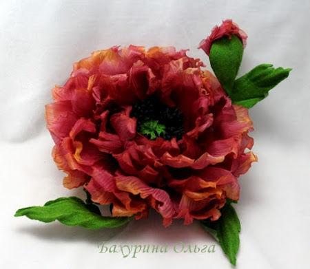 цветы из ткани, цветоделие, цветы из шелка, мастер-класс, обучение цветоделию, мак
