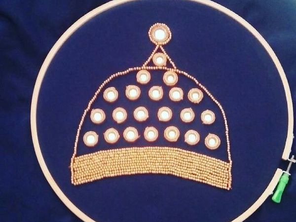 Джумки в вышивке   Ярмарка Мастеров - ручная работа, handmade