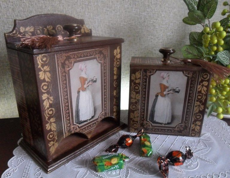 шоколадница, новинка магазина, картина художника, картина маслом, короб под сахар, коричневый цвет, интерьер кухни