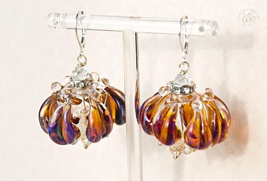 галерея тасмания, стекло, лэмпворк, лампворк, украшения из стекла, авторские украшения, оригинальные украшения