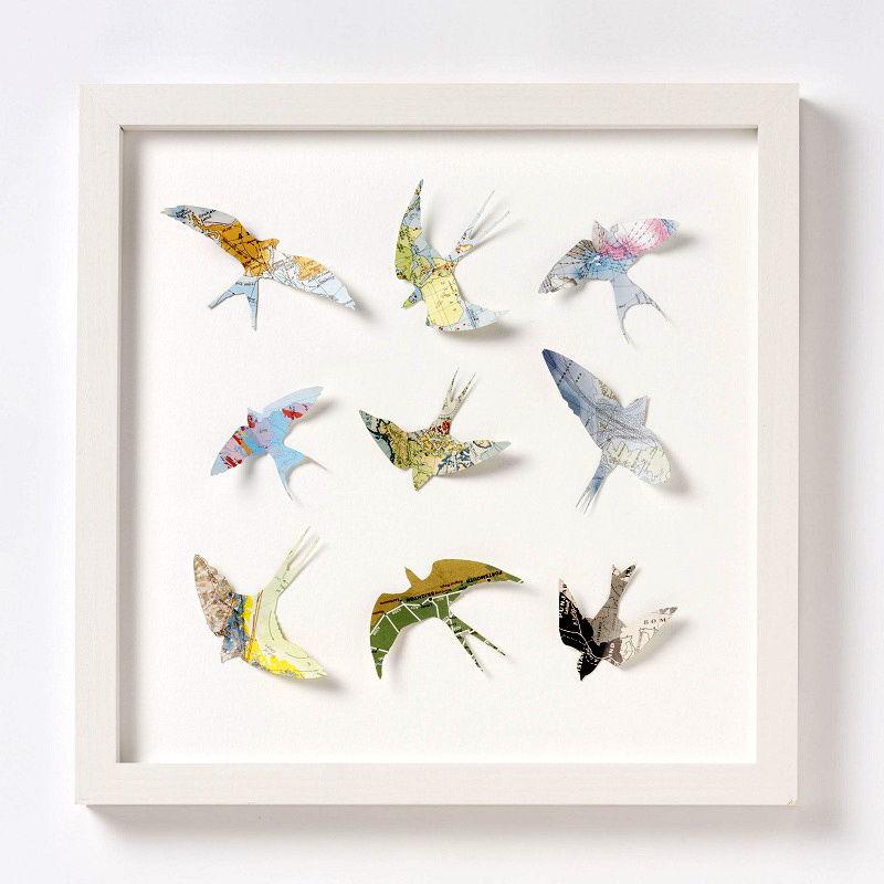 птицы в интерьере