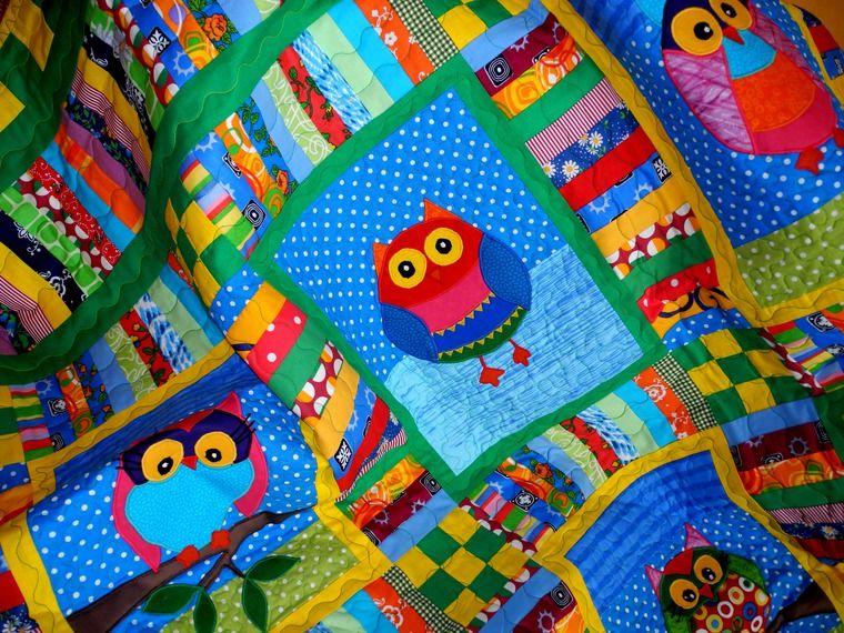 одеяло пэчворк детское, плед пэчворк, лоскутный плед