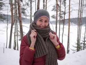 Видео мастер-класс: вяжем шарф лицевыми петлями. Ярмарка Мастеров - ручная работа, handmade.