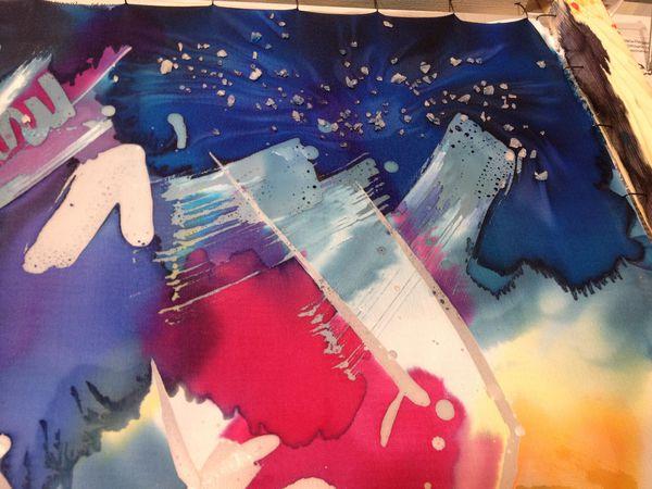 Мастер-класс по горячему батику,  платок с абстрактным рисунком,  28 августа, Москва | Ярмарка Мастеров - ручная работа, handmade