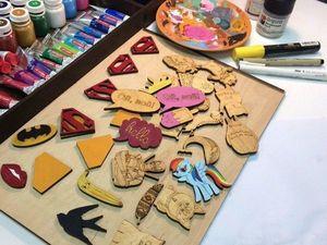 Делаем деревянные значки своими руками!. Ярмарка Мастеров - ручная работа, handmade.