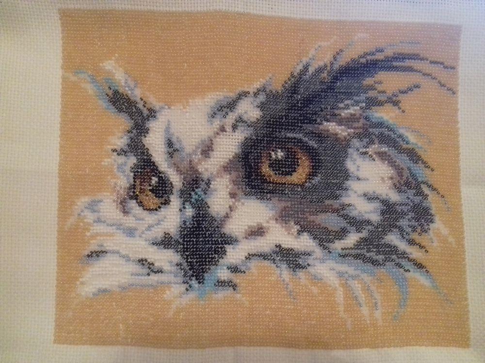 вышивка бисером сова, отшивы бисером