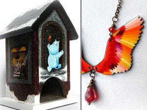 Снова в продаже! - домик с мумикам и подвеска-крылья. Ярмарка Мастеров - ручная работа, handmade.