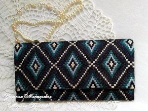 Как вышивался клатч   Ярмарка Мастеров - ручная работа, handmade