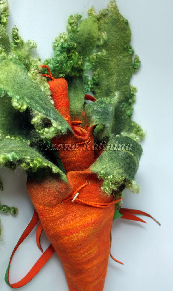 арт-сумка, авторская техника, мокрое валяние, войлок, шерсть, оксана калинина, морковка