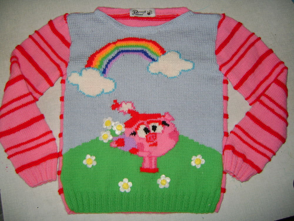 акция, вязаный пуловер