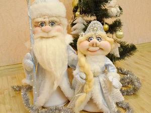 Серия видеоуроков: шьем Деда Мороза и Снегурочку в чулочной технике. Ярмарка Мастеров - ручная работа, handmade.