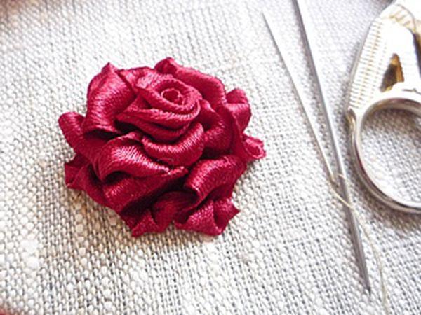 Easy to Do: Ribbon Embroidered Rose | Livemaster - handmade