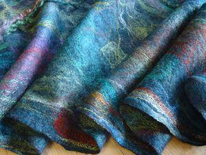 Валяем шарфик на шёлке (новичкам) | Ярмарка Мастеров - ручная работа, handmade