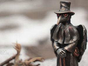 Фигурка Чумной доктор с крыльями. | Ярмарка Мастеров - ручная работа, handmade
