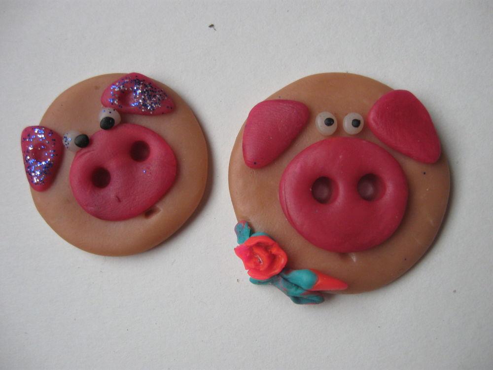 год свиньи, полимерная глина, для начинающих, новый год