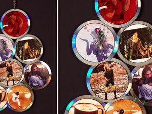 Делаем фоторамку из СD-дисков: видео мастер-класс. Ярмарка Мастеров - ручная работа, handmade.