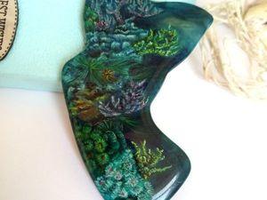 Коралловый риф – крупная подвеска с лаковой росписью для создания украшения.. Ярмарка Мастеров - ручная работа, handmade.