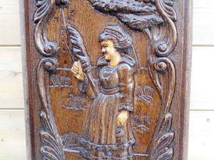 Старинные деревянные панно резьба по дереву Бретонский стиль: сегодня в магазине! | Ярмарка Мастеров - ручная работа, handmade