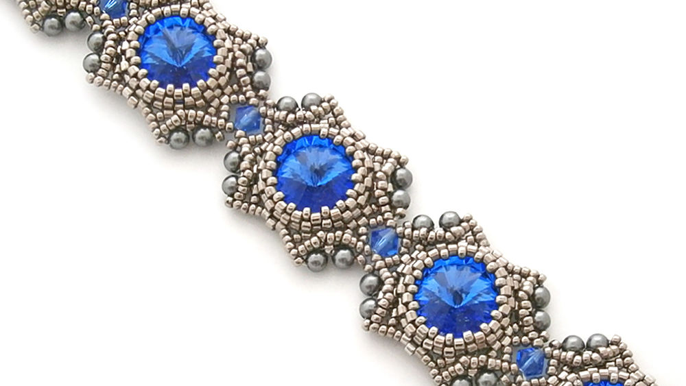 бисер, мастер-класс, видео мк, браслет, jewelry, bracelet, beadwork, swarovski