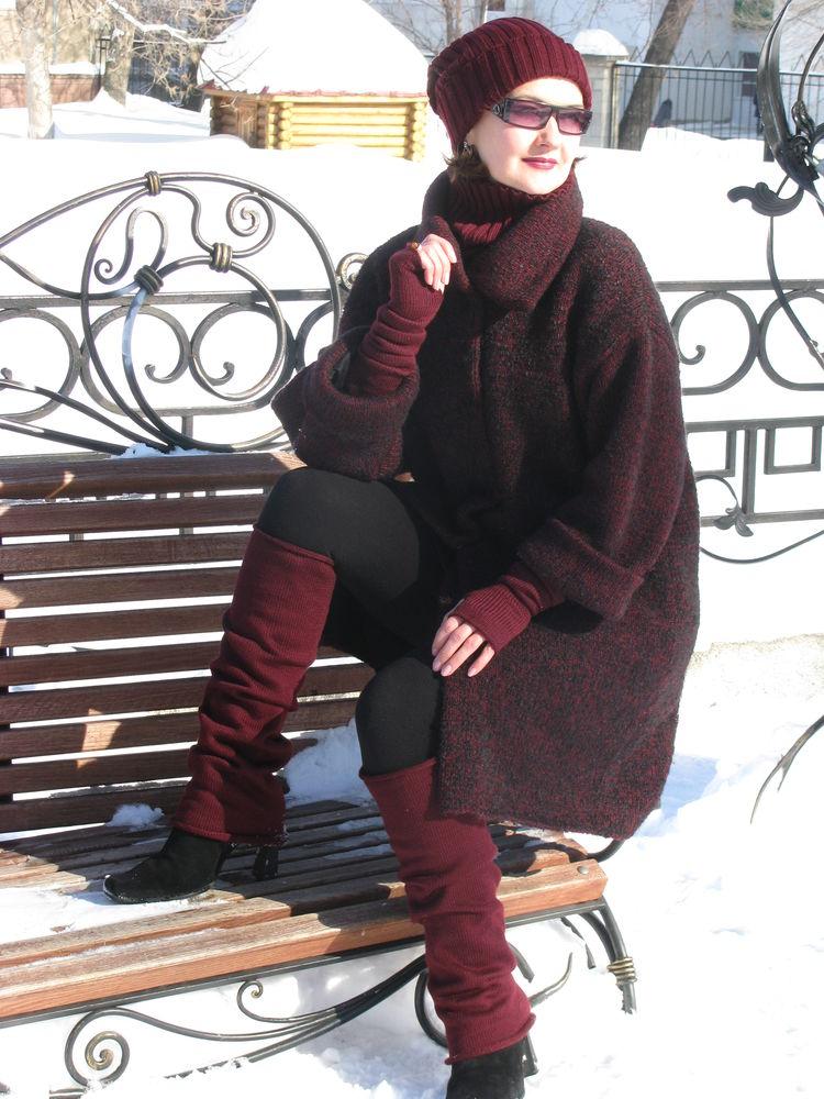вязаное пальто, распродажа вязаных работ