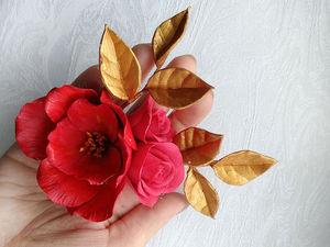 Новогоднее крашение красный и золото | Ярмарка Мастеров - ручная работа, handmade