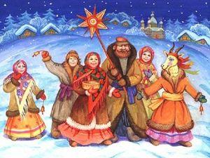 С Рождеством и спасибо за ГЛАВНУЮ в Рождественскую ночь. Ярмарка Мастеров - ручная работа, handmade.