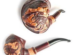 """НОВИНКА! Курительная трубка """"Scorpio"""". Ярмарка Мастеров - ручная работа, handmade."""