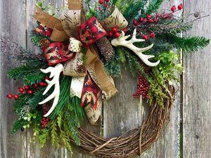 Рождественские венки. Ярмарка Мастеров - ручная работа, handmade.