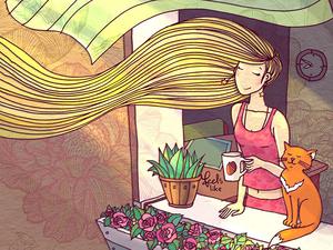 Feels Like: Loving and Happy Heroines by Nastia Kamentseva. Livemaster - handmade